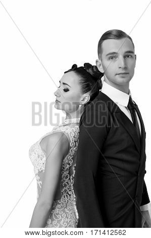 Wedding Couple Of Pretty Woman And Handsome Man