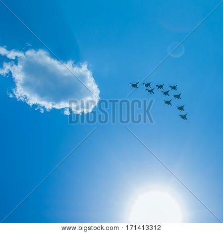 Fighter Squadron on parade in Moscow 2016