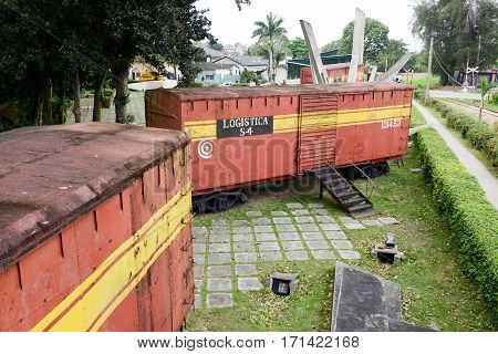 Memorial Of Train Captured By Che Guevara's Forces