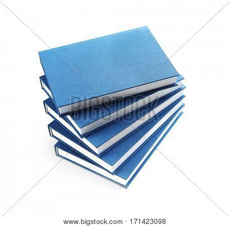 New books on white background