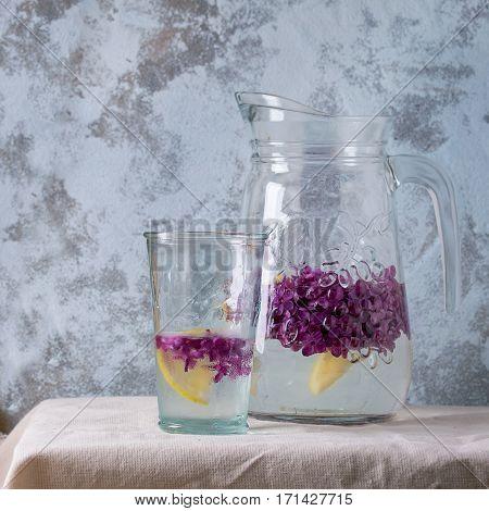 Lilac Lemonade Water With Lemon