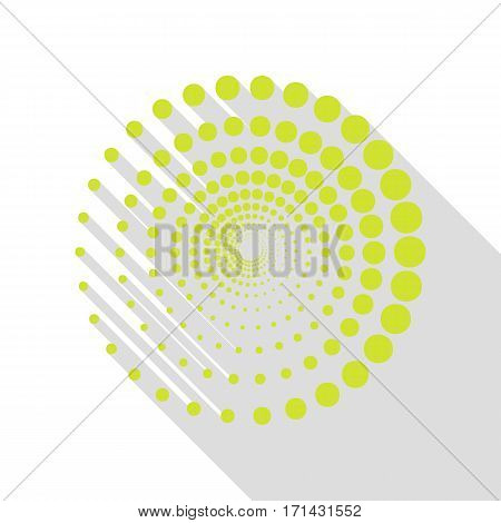 Abstract technology circles sign. Pear icon with flat style shadow path.