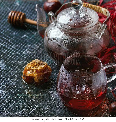 Autumn Red Hibiscus Tea