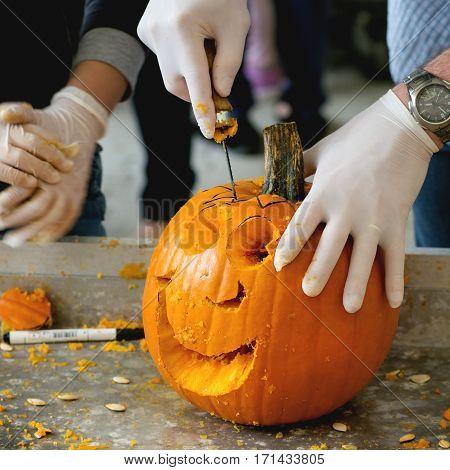 Making Halloween Pumpkins