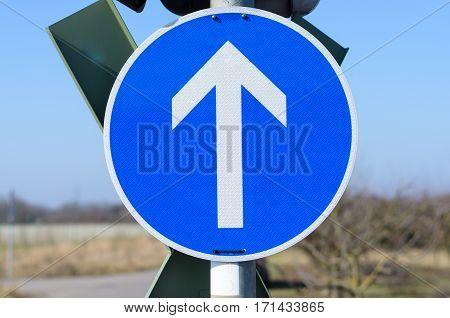 Direction Forward Railroad Sign