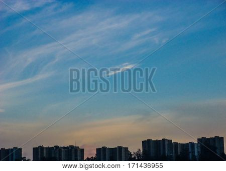 Buildings forming part of the sky show