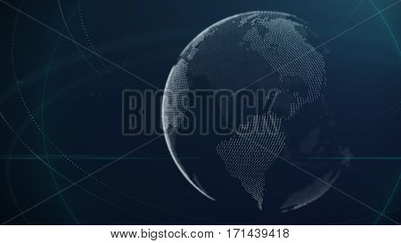 Digital Networking Communication Abstract Background Design Element