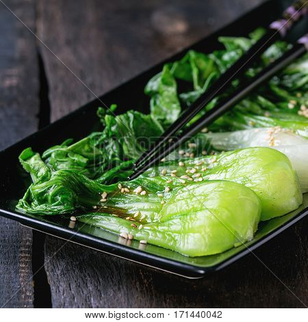 Cooked Bok Choy With Sesame Seeds