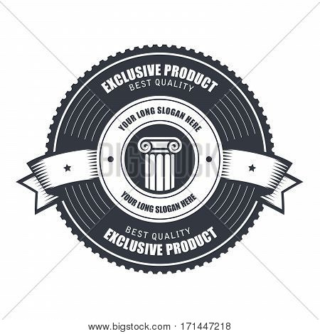 Badge or emblems template for product emblem or service mark