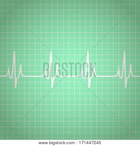 Heart Beats Cardiogram Background or Medical Wallpaper Health Care Concept. Vector illustration