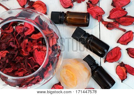 Caring for the skin and body, slimming, anti-cellulite massage, spa, beauty salon, candles, aromatic oils, essential oils, fruits, oranges, tangerines, lemons, limes