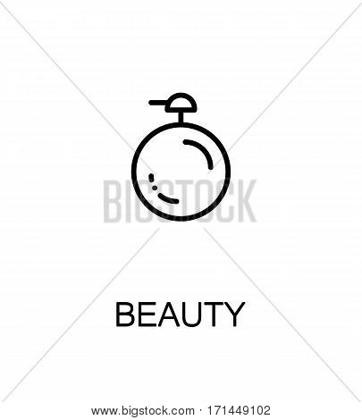 Beauty icon. Single high quality outline symbol for web design or mobile app. Thin line sign for design logo. Black outline pictogram on white background