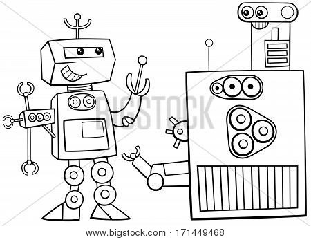 Robots Character Coloring Page