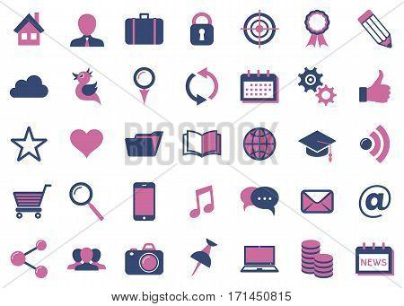 Modern vector social media icons big collection