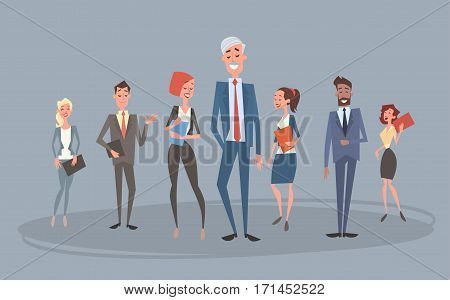Business People Group Team Human Resources Colleagues Flat Vector Illustration