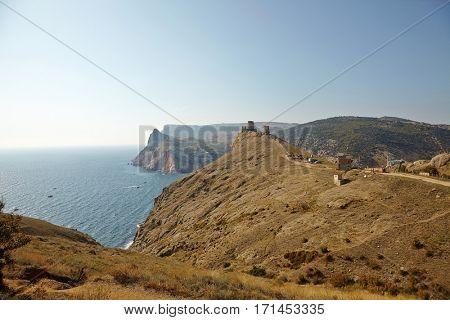 Coastal landscape at Balaklava, Crimea