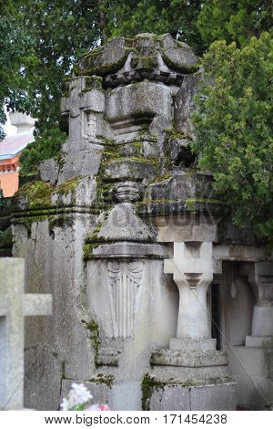 A view of some ancient crypt in cemetry