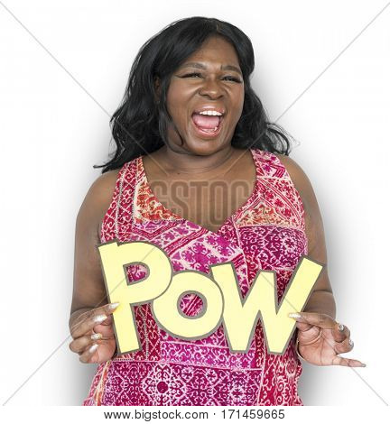 Women Hands Hold Pow Word Studio