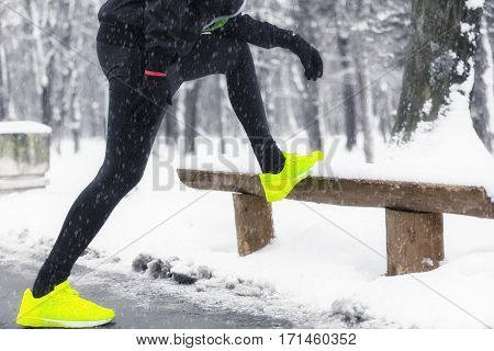 Jogging / exercising no matter how cold it is.