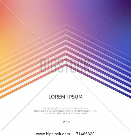 Abstract Bright Background With White Lines And Polygons.