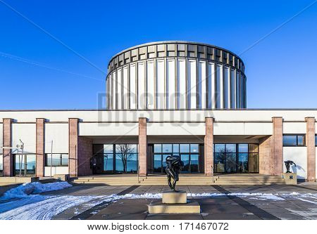 View Of Panorama Museum In Bad Frankenhausen, Germany