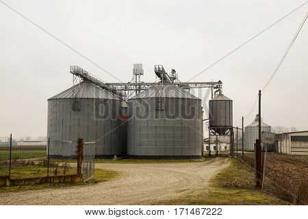 Agricultural Silos In Full View