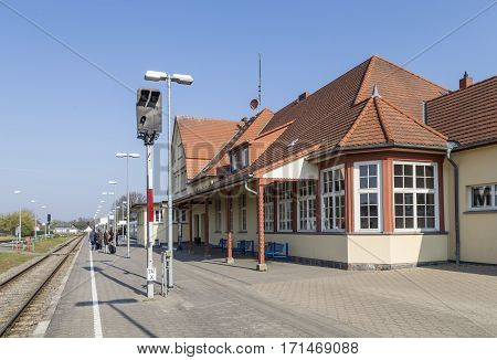 People At Train Station In Zinnowitz, Usedom