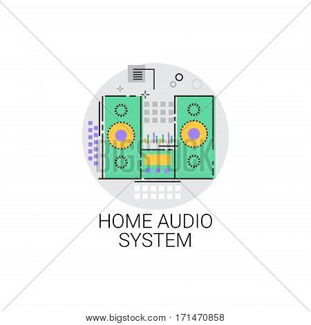 Home Audio System Sound Devices Icon Vector Illustration