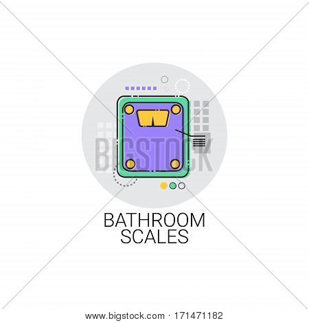 Bathroom Scale Home Weight Control Icon Vector Illustration