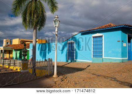Plaza Mayor -Principal square of Trinidad. One of UNESCOs World Heritage sites since 1988. Sancti Spiritus Province Cuba.