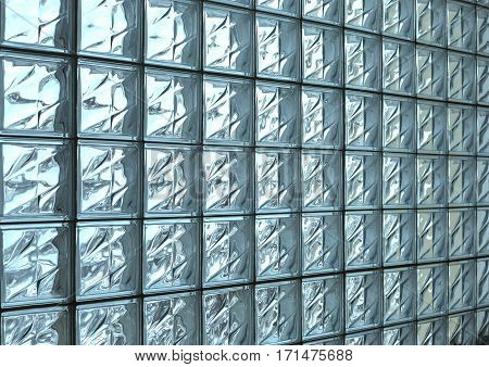 the Pattern of glass block wall background
