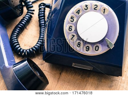 the old disk phone a means of communication of the past