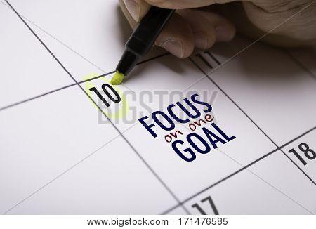 Focus on One Goal