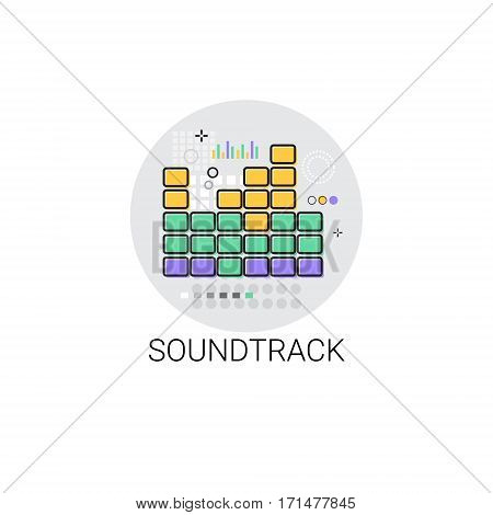 Soundtrack Music Film Production Icon Vector Illustration