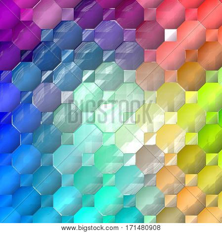 Abstract coloring background of the spectrum gradient with visual wave,mosaic,plastic wrap and lighting effects