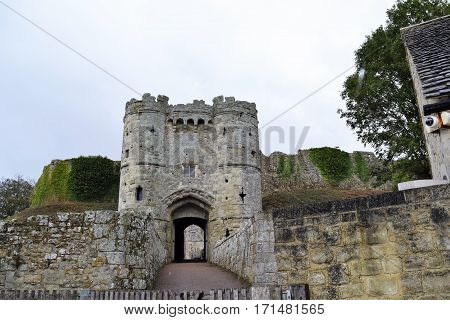 English Medieval Castle Entrance, Great Brian, United Kingdom