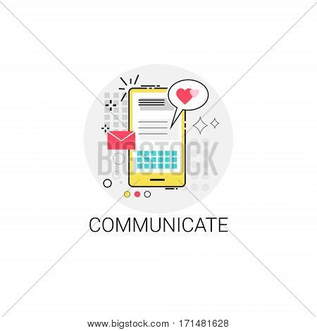 Cell Smart Phone Communicate Message Sms Icon Vector Illustration