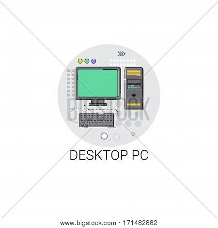 PC Desktop Personal Computer Icon Vector Illustration