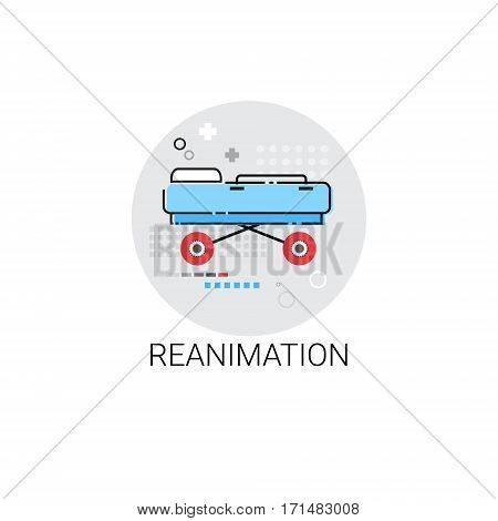 Reanimation Hospital Doctors Clinic Medical Treatment Icon Vector Illustration