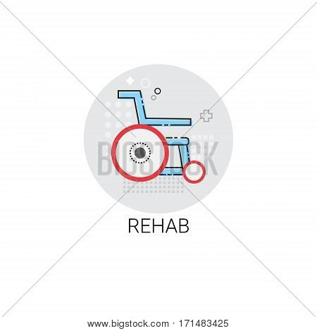Rehab Hospital Doctors Clinic Medical Treatment Icon Vector Illustration