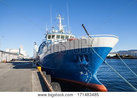 Gunnerus Blue Industrial Cargo Ship