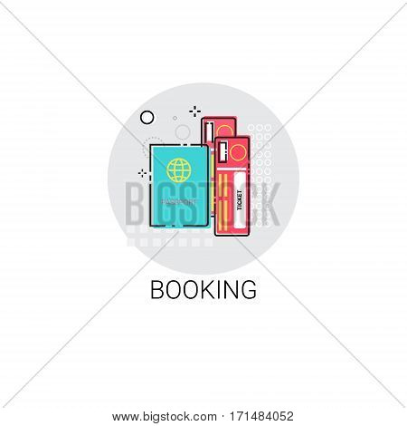 Booking Ticket Online Reservation Icon Vector Illustration