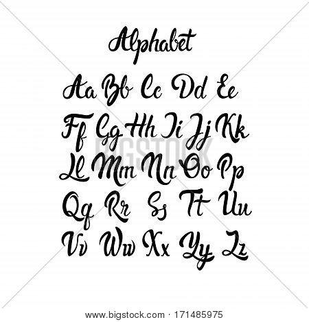 Alphabet Letters Collection Text Lettering Set Vector Illustration
