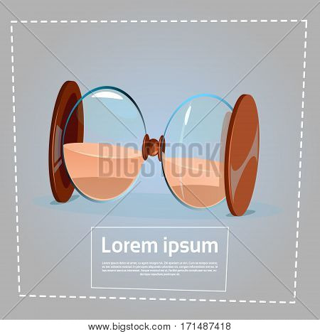 Sand Watch Time Clock Deadline Concept Flat Vector Illustration