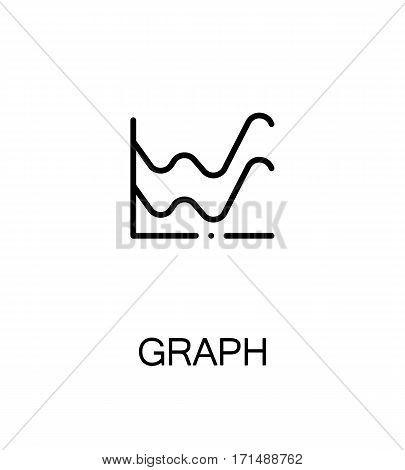 Graph icon. Single high quality outline symbol for web design or mobile app. Thin line sign for design logo. Color line symbol on white background