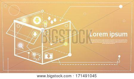 Brainstorming Briefing Idea Creative Concept Business Banner Vector Illustration
