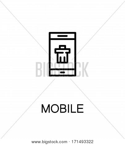 Mobile icon. Single high quality outline symbol for web design or mobile app. Thin line sign for design logo. Black outline pictogram on white background