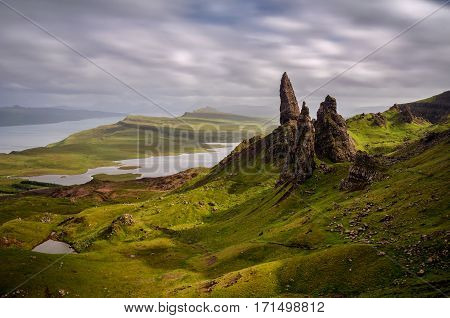 Old Man of Storr rock formation Isle of Skye Scotland