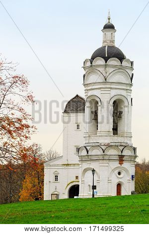 The Church-belfry of St. George of the sixteenth century in the park Kolomenskoye. Moscow, Russia.
