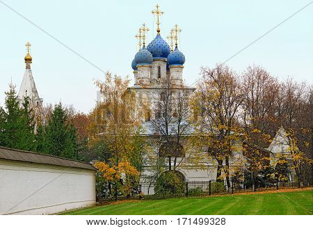 Church of the Kazan icon of the Mother of God of the seventeenth century in the park Kolomenskoye. Moscow, Russia